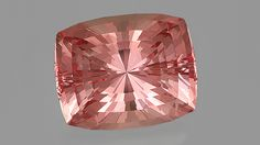 John Dyer is a master in making light dance. His work shimmers in this 119.60 ct morganite. Gem courtesy of John Dyer & Co.