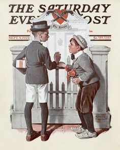 """Norman Rockwell's """"Rivals"""",  September 9, 1922 Issue of The Saturday Evening Post"""