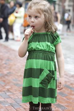 School Clothes {The Green Dress} similar to Go To Signature Dress pattern (owned)