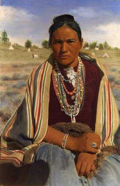 Vintage Navajo woman .....notice her layers of necklaces.