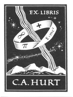 FREE contemporary artist DOWNLOAD~BOOKPLATES: THE ART OF THIS CENTURY! http://www.bookplate.org/book-store  Bookplate by James Hayes (1907-1994)