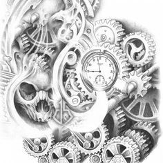 Shiva Tattoo by Parth Vasani At Aliens Tattoo India Ship Tattoo Sleeves, Sleeve Tattoos, Badass Tattoos, Tattoos For Guys, Tattoo Sketches, Tattoo Drawings, Gear Tattoo, Steampunk, Gear Art