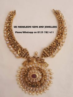 Every pc made with perfection. Presenting kanthi necklace with best nakshi work. visit for best designs. contact no 8125 782 411 . Gold Jewelry Simple, Gold Wedding Jewelry, Bridal Jewelry, Silver Jewelry, Silver Earrings, Antique Jewellery Designs, Gold Jewellery Design, Jewellery Diy, Jewellery Earrings