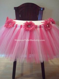 High Chair Tutu Perfect for a 1st Birthday by MommasTulleShed