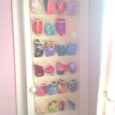 58 Ideas Toy Room Organization Ideas Command Hooks For 2019 Small Office Organization, Craft Closet Organization, Organization Ideas, Storage Ideas, Organizing Purses In Closet, Barbie Storage, Toy Rooms, Toys For Girls, Command Hooks