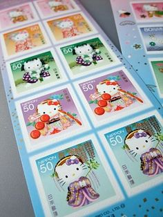 (1) Samurai Spirits ネタ Japanese, hello kitty postage stamps