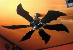 """Batman Ceiling Fan - Per @AMCTheatres, """"Alfred Approved""""--I don't give a shit about Batman, but I love bats!!! I want this."""