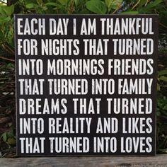 I Am Thankful ~ Box Sign.