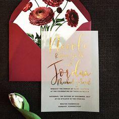 Nicole Invitation Suite // Translucent Vellum with Gold Foil
