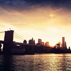 Brooklyn Bridge. It's like portal to a whole different world. I'd love to see it by night!
