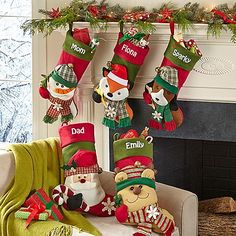Big Face Jingle Bell Stocking | Personal Creations
