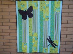 Butterfly and dragonfly quilt