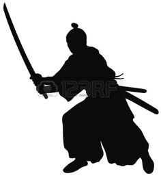 Japanese Restaurant Design, Samurai, Silhouette, Abstract, Illustration, Tattoo Ideas, Art, Summary, Art Background