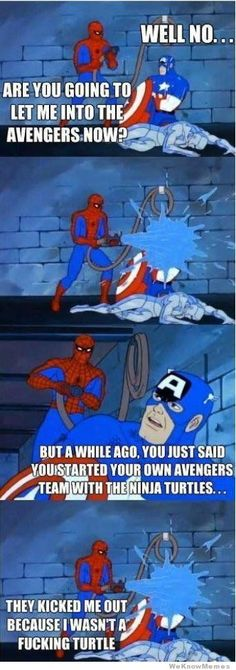 Spiderman tries to join the Avengers