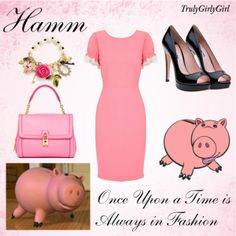 Disney Style: Hamm, created by trulygirlygirl Disney Bound Outfits Casual, Disney Character Outfits, Disney Princess Outfits, Disney Themed Outfits, Movie Inspired Outfits, Disney Inspired Fashion, Disney Fashion, Movie Outfits, Women's Fashion