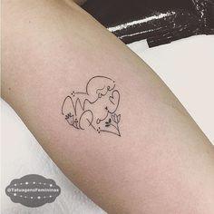 Mãe e Pai / Mom n' Dad • Tattoo Artist: . @Estudiomonikecarrasco . ℐnspiração 〰 ℐnspiration . . #tattoo #tattoos #tatuagem #tatuaje #ink #tattooed #tattooedgirls #mae #pai #TatuagensFemininas