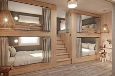 Setting the trend for luxury bunk rooms, emerging boutique hotel brand Life House will be unveiling hotels in Miami, Nantucket, Denver and Brooklyn in 2020 Room Design Bedroom, Home Room Design, Dream Home Design, Bedroom Decor, Bunk Bed Rooms, Bunk Beds Built In, Bedrooms, Sleepover Room, Bunk Bed Designs