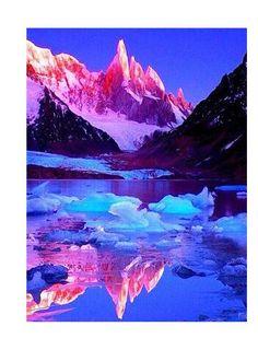 Ice Mountains And Sunrise - Diamond Painting Kit - 28x36''/70x90cm