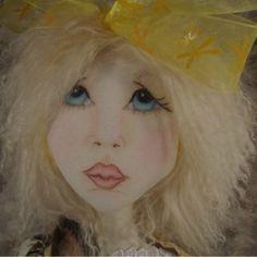 Cloth doll, Art Doll, Hand made cloth doll, Cute little girl and rabbit cloth doll by BLMdollsnstuff on Etsy https://www.etsy.com/listing/387253986/cloth-doll-art-doll-hand-made-cloth-doll