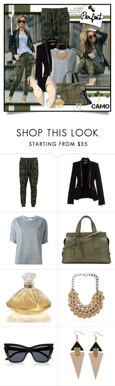 """Camo Style"" by giovanadoll ❤ liked on Polyvore featuring Boohoo, MICHAEL Michael Kors, Marni, Giorgio Armani, Lalique, Paul Andrew, Alienina, Le Specs and Toolally"