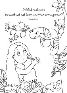 Adam And Eve Colouring Page For Arrival Activities Snack Time Or Extra Craft