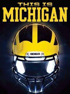 university of michigan Michigan Gear, Michigan Athletics, Michigan Go Blue, Michigan Wolverines Football, University Of Michigan, U Of M Football, College Football Teams, Football Helmets, Football Stuff