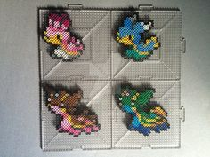 #422-#423 Shellos and Gastrodon Perlers by TehMorrison
