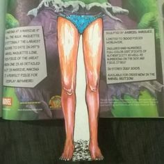 The incredible hulk with bikini!!! #bookmarks #bookmark #legs #comic #comicbook #book #books #illustrated #illustrations #illustration #sketch #ink #coloring #colors