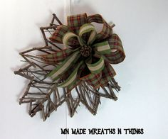 Fall Decor, Fall Door Hanger, Twig Door Hanger, Maple Leaf, Fall Wall Hanging, Twig Decor, Entry Hanger. Autumn Decor, Harvest Decor by MnMadeWreathsNThings on Etsy
