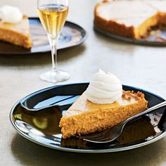 Vanilla-Bourbon Pumpkin Tart - Healthy Holiday Dessert Recipes - Cooking Light