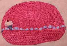 Hot Pink Ice Cream Newsboy Hat by FunkyBsDesigns on Etsy