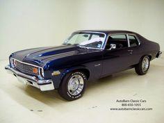My sweet, bad-ass '74 Nova was metallic grey with custom wheels