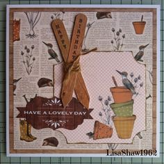 Craftwork cards: Potting Shed