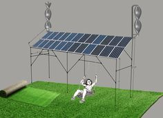 Wind Solar Patio Cover With Swing For Entertainment.
