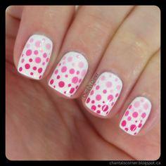 Busy Girl's Summer Nail Art Challenge Week 3 - Polka Dots (Gradient Dotticure) ~ Chantal's Corner