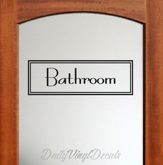 Bathroom Decal Bathroom Wall Decal - Bathroom Sign Bathroom Lettering Decal Text Window Door Bathroom Vinyl Decal etc. Home Decor Decal
