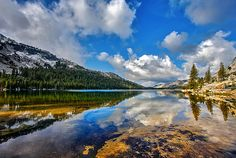 Clouds over Tenaya Lake #Photography #reflection
