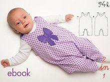 """Schnittmuster Baby Strampler, Overall, Body, Babyanzug nähen, für Kinder, Junge + Mädchen, Ebook pdf Schnittmuster """"Plinio"""" von Pattern4kids"""
