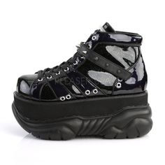 771f07ebc Totally Wicked FootwearDemonia Alternative Shoes   Boots · Neptune 100  Black Hologram Patent 3