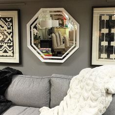 """CASSIDY FR9033 mirror #handcrafted out of wooden moulding  size 3"""" wide x 2"""" thick  with 1"""" inlaid mirror strips. Frame size - 28"""" x 28""""  Finished -  Shabby chic white paint  DANTE frame can be customized in a variety of finishes sizes and shapes  more info at yonaozeri.com  #artist#designer#luxuryinterior#modern#luxurydecor#interiordesigner#interiordesigners#homedecor#interiorstyling#homestyling#homedecorating#idcdesigners#decorations#interiors#designblog#homestyle by yonaozeridesign…"""