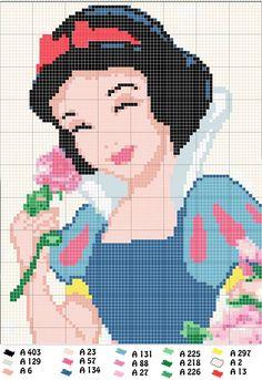 Punto de cruz Disney - Blancanieves Más