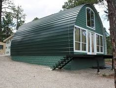 architecture house design, quonset hut homes Cabine Diy, Cheap Tiny House, Quonset Hut Homes, Arched Cabin, Building A Cabin, Metal Building Homes Cost, Building Ideas, Diy Cabin, Cabin Kits