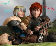 Tyler & Stoick ll.By. Kelyta B.(Tyler's parents are Astrid & Eret. Stoick's are Merida & Hiccup.)