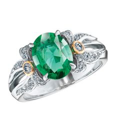 Fabergé Alix Emerald Ring #Fabergé #diamond #emerald #ring