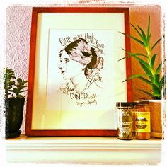 Meal-inspired prints for the kitchen and dining room: Virginia Woolf print.