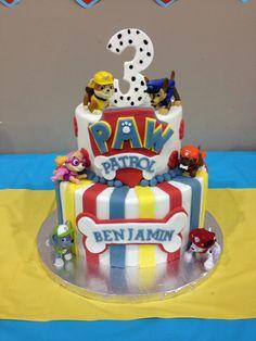 Paw Patrol Cake by Sweet Serendipity in Tulsa, OK Paw Patrol Theme Party, Paw Patrol Birthday Cake, 3rd Birthday Cakes, Paw Patrol Cake, 4th Birthday Parties, Boy Birthday, Birthday Ideas, Fete Laurent, Cake Disney