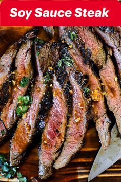 Soy sauce steak marinade. Marinate your flank steaks with a home-made flank steak marinade. Tenderizing and adding flavor in one simple step, this easy to make marinade is one you'll find yourself making again and again. Side Dish Recipes, Healthy Dinner Recipes, Steak Roll Ups, Ribeye Roast, Slow Cooker Italian Beef, Marinated Steak, Fast Easy Meals, Flank Steak, Beef Recipes