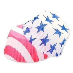 Fox Run Stars and Stripes Baking Cups, Standard Size, 50 Cups => Amazing product just a click away at : Baking tools