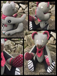 Memory Bear handmade from the beautiful clothes of a lost loved one. Bespoke gifts to capture treasured memories forever.