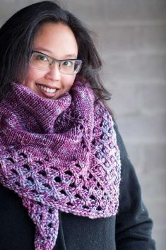 Ravelry: Winter Brunch Shawl pattern by Laura Chau Knit Cowl, Knitted Shawls, Crochet Shawl, Crochet Yarn, Knitted Scarves, Crochet Blankets, Shawl Patterns, Knitting Patterns, Knitting Projects